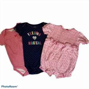 3pc lot Baby Onesies Feeling Magical floral outfit